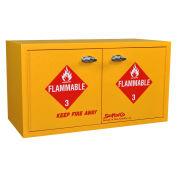 "Mini Stak-a-Cab™ Flammable Cabinet, Manual Close, 8 Gallon, 31""W x 14-1/2""D x 17""H"
