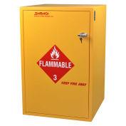 "Floor Flammable Cabinet, Self-Closing, 30 Gallon, 23-7/8""W x 23-7/8""D x 36-5/8""H"