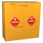 "Flammable Cabinet, Manual Close, 54 Gallon, 43""W x 18""D x 44-5/8""H"