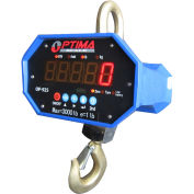 Optima Heavy-Duty LED Digital Crane Scale With Remote 10,000lb x 5lb, OP-925A-10000LED