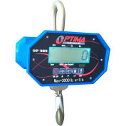 Optima Heavy-Duty LCD Digital Crane Scale with Remote 20,000lb x 10lb, OP-925B-20000LCD