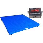 "Optima NTEP 48"" x 48"" Heavy Duty Pallet Digital Scale 10,000lb x 2lb, OP-916-4x4-10LED"
