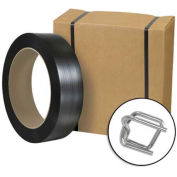 """Jumbo Poly Strapping Kit 1/2"""" x 9,000' Coil, Cutter & 1,000 Buckles"""