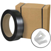 """Jumbo Postal Approved Poly Strapping Kit 1/2"""" x 9,000' Coil, Cutter & 1,000 Buckles"""