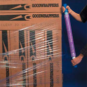 "Goodwrappers Stretch Wrap, 10"" x 1000' x 80 Gauge with Dispenser, Purple - Pkg Qty 4"