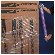 "Goodwrappers Stretch Wrap, 15"" x 1000' x 80 Gauge with Dispenser, Purple - Pkg Qty 4"