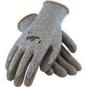 Polyurethane Salt & Pepper Grip Gloves with HPPE Liner, Gray, M, 12 Pairs, 16-530/M