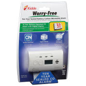 Kidde Worry-Free 10-Year Sealed Lithium Battery Operated CO Alarm with Digital Display