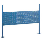 """18""""WLouver and 36""""W Pegboard Mounting Kit for 60""""W Workbench - Blue"""
