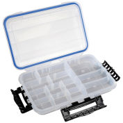 "Plano Guide Waterproof StowAway w/O-Ring Seal Box, 364010, 10-3/4""Lx7-1/4""W x 1-3/4""H, Clear - Pkg Qty 2"