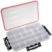 "Plano Guide Waterproof StowAway w/O-Ring Seal Box, 374010, 14""W x 9""D x 1-7/8""H, Clear - Pkg Qty 2"