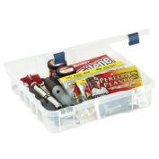 """Plano ProLatch XL StowAway Compartment Box, 705001, 14""""W x 14-3/8""""D x 3-1/4""""H, Clear - Pkg Qty 2"""