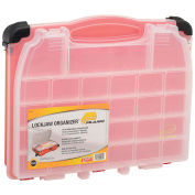 "Plano 523101 Double Cover LockJaw Organizer, 14-1/2""x11-3/4""x3-3/8"", Red"