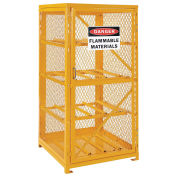 Storage Cabinet Single Door Horizontal, 8 Cylinder Capacity, Assembled