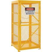 Storage Cabinet Single Door Vertical, 9 Cylinder Capacity, Assembled