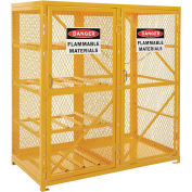 Storage Cabinet Double Door Combo, 8 Horizontal/9 Cylinder Capacity, Assembled