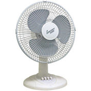 """Comfort Zone® CZ121 Oscillating Table Fan 12"""" White 3 Speed"""