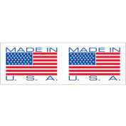 """2""""x110 Yds Printed Carton Sealing Tape """"Made in USA"""", Red/ White, 18/PACK - Pkg Qty 18"""