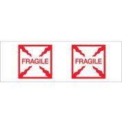 "2""x55 Yds Printed Carton Sealing Tape ""Fragile (Box)"", Red/White, 6/PACK - Pkg Qty 6"