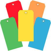 """6-1/4""""x3-1/8"""" Tyvek Shipping Tags, Assorted Color, 1000 Pack"""