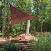 ShelterLogic  Triangle Sun Shade Sail, 12'L, Terracotta