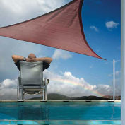 ShelterLogic  Triangle Sun Shade Sail, 16'L, Terracotta
