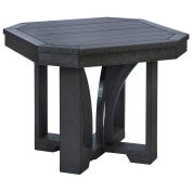 """Recycled Plastic 25"""" Square End Table, Black, 24-1/2""""L x 24-1/2""""W x 20""""H"""