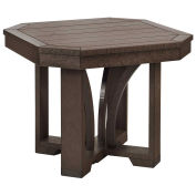 """Recycled Plastic 25"""" Square End Table, Chocolate, 24-1/2""""L x 24-1/2""""W x 20""""H"""