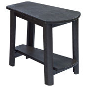"""Recycled Plastic Tapered Style Accent Table, Black, 29""""L x 18-1/2""""W x 19""""H"""