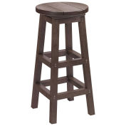 "Recycled Plastic Dining Pub Style Barstool, Chocolate, 14""L x 14""W x 30""H"
