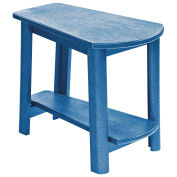 "Recycled Plastic Tapered Style Accent Table, Blue, 29""L x 18-1/2""W x 19""H"