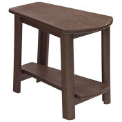 "Recycled Plastic Tapered Style Accent Table, Chocolate, 29""L x 18-1/2""W x 19""H"