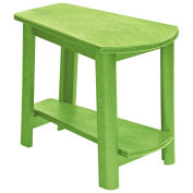 "Recycled Plastic Tapered Style Accent Table, Kiwi Lime, 29""L x 18-1/2""W x 19""H"