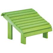 "Recycled Plastic Premium Footstool, Kiwi Lime, 18""L x 18""W x 16""H"