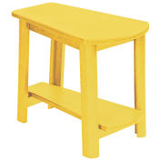 "Recycled Plastic Tapered Style Accent Table, Yellow, 29""L x 18-1/2""W x 19""H"