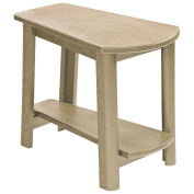 "Recycled Plastic Tapered Style Accent Table, Beige, 29""L x 18-1/2""W x 19""H"