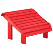 "Recycled Plastic Premium Footstool, Red, 18""L x 18""W x 16""H"