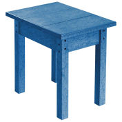 """Recycled Plastic Small Side Table, Blue, 17""""L x 17""""W x 17""""H"""