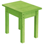 """Recycled Plastic Small Side Table, Kiwi Lime, 17""""L x 17""""W x 17""""H"""