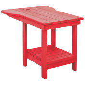 "Recycled Plastic Tete A Tete Table, Red, 18""L x 14""W x 21""H"