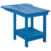 "Recycled Plastic Tete A Tete Table, Blue, 18""L x 14""W x 21""H"