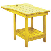 "Recycled Plastic Tete A Tete Table, Yellow, 18""L x 14""W x 21""H"