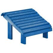 "Recycled Plastic Premium Footstool, Blue, 18""L x 18""W x 16""H"