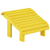 "Recycled Plastic Premium Footstool, Yellow, 18""L x 18""W x 16""H"