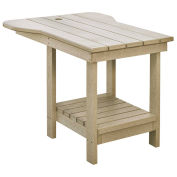 "Recycled Plastic Tete A Tete Table, Beige, 18""L x 14""W x 21""H"