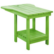 "Recycled Plastic Tete A Tete Table, Kiwi Lime, 18""L x 14""W x 21""H"