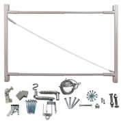 "Adjust-A-Gate Consumer Series Adjustable Steel Gate Frame 2 Rail Kit 36-72""W x 72""H, White, AG72"