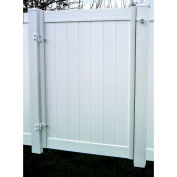 "Adjust-A-Gate II Single Gate Privacy Solid Board Fence Gate Frame Kit 72""W x 72""H, White, AG20066"