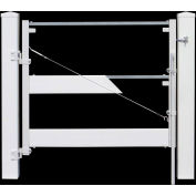 "Adjust-A-Gate II Ranch Style Fence Gate Frame 3 Rail Kit 72""W x 38""H, White, AG23006"
