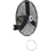 "30"" Outdoor Misting Oscillating Wall Mounted Fan, 3/10 HP, 8,400 CFM"